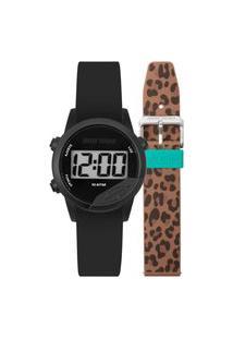 Relógio Unissex Mormaii Digital Mude Mo4100Af/T8M 40Mm Silicone Preto