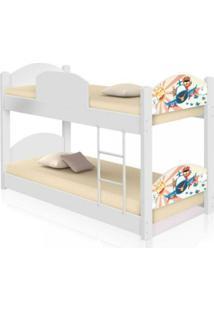 Beliche Infantil Patrulha Ursinhos Com 2 Colchãµes Casah - Branco/Multicolorido - Dafiti