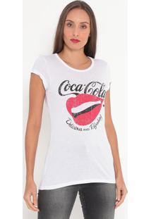 "Camiseta ""Delicious""- Branca & Vermelha- Coca-Colacoca-Cola"