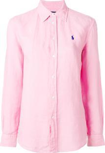 Polo Ralph Lauren Camisa De Linho - Rosa