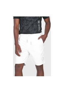 Bermuda Sarja Calvin Klein Jeans Reta Amarração Branca