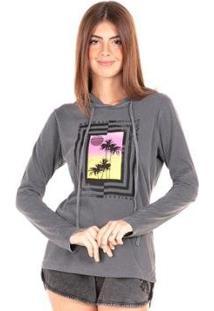 Camiseta Mormaii Baby Look Manga Longa Hood Sunset Feminina - Feminino
