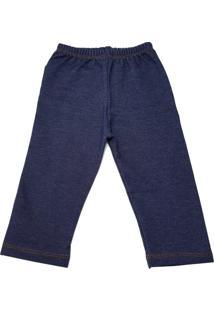 Calça Jeans Coquelicot Com Bolso Azul - Tricae