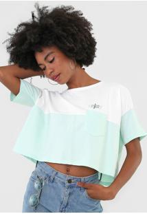 Camiseta Cropped Hang Loose Over Enjoy Branca - Kanui