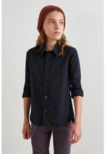 Camisa Infantil Mini Pf Fantasia Reserva Mini Masculina - Masculino-Preto