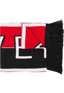 Givenchy Echarpe De Tricô Com Logo - Vermelho