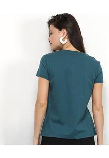 Camiseta Tommy Jeans Logo Feminina - Feminino-Azul