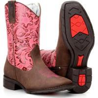 95f89d748a Bota Infantil Country Texana Rodeio Capelli Feminina - Feminino-Rosa