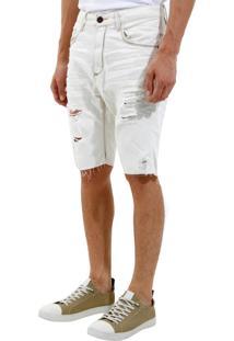Bermuda John John Rock Polonia 3D Jeans Azul Masculina (Jeans Claro, 46)