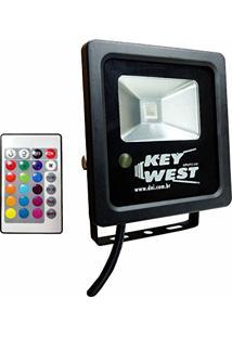 Refletor Holofote 10W Rgb Várias Cores - Dni 6090