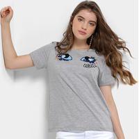 bb1135eaca Camiseta Infantil Colcci Fun Bordada Feminina - Feminino