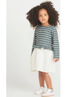 Vestido Bebê Com Calcinha Em Malha Texturizada