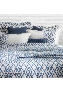 Edredom Blue King Size - Branco & Azul - 250X260Cmsultan