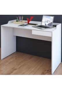 Mesa Escrivaninha Slim 1 Gaveta Branco - Artany