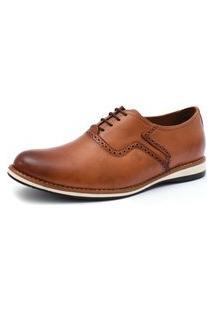 Sapato Social Oxford 3Ls3 Com Cadarço Marrom