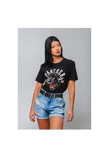T-Shirt Panther Preto