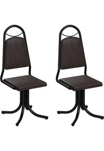 Conjunto Com 2 Cadeiras Sydney Tabaco E Preto