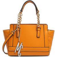 b60b43635 Bolsa Macadamia De Mão Com Corrente Preto - Feminino-Mostarda
