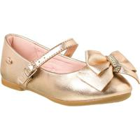 5944dd4795 Klin. Sapatilha Infantil Princesa Kids Fancy Cor  Ouro Rosa - Tam.