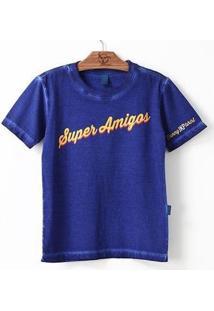 Camiseta Jokenpô Pai Super Amigos - Masculino-Azul
