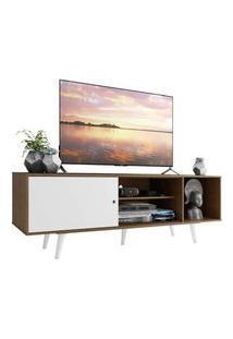 Rack Madesa Dubai Para Tv Até 65 Polegadas Com Pés Rustic/Branco/Branco