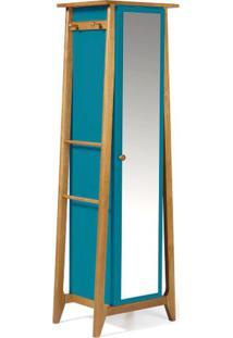 Armario Multiuso Stoka Cor Amendoa Com Azul - 31600 - Sun House
