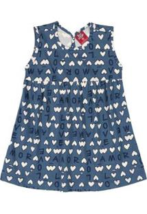 Vestido Love Bebê Azul