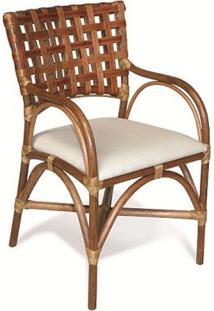 Cadeira Home Com Braço Junco Envelhecido Estrutura Apuí Eco Friendly Design Scaburi