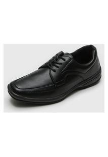 Sapato Social Ollie Recortes Preto