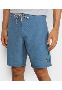 Bermuda Boardshort Hang Loose Tecno Masculina - Masculino-Azul+Branco