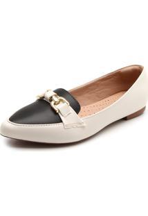 8fd845a061 Mocassim Dafiti Shoes Detalhe Branco Preto