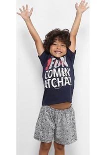 Pijama Infantil Curto Disney Masculino - Masculino