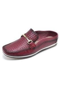 Sapato Mule Babuche Cor Bordô