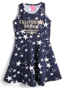 Vestido Kamylus Estrelas Azul - Tricae