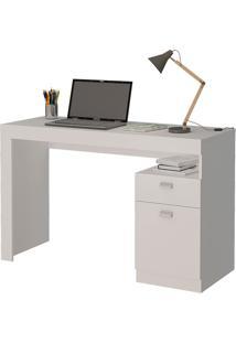 Mesa Para Computador Com 1 Gaveta E 1 Porta Melissa – Permóbili - Branco