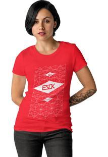 Camiseta Feminina Ezok Skate Lane Vermelho