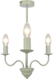 Lustre Linus, Metal Cor Branco Off Light Única