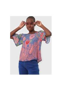 Camiseta Oh, Boy! Serpente Azul/Rosa