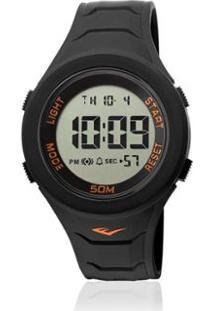 Relógio Everlast Digital Unissex Cx E Pulseira Silicone - Unissex-Preto
