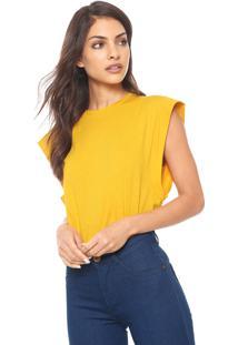 Camiseta Colcci Reta Amarela