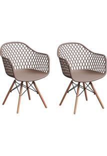 Conjunto Com 2 Cadeiras Siberian Eiffel Bege