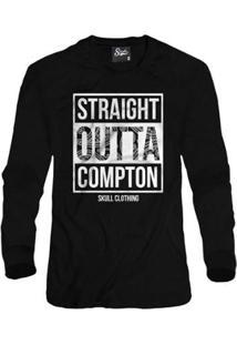 Casaco Moletom Skull Clothing Straight Outta Compton Masculino - Masculino-Preto