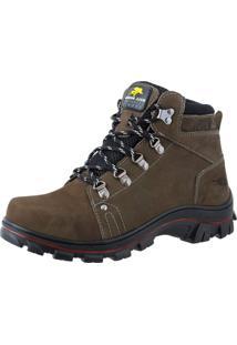 Bota Adventure Bell Boots Couro Escalada Trilhas Dia A Dia Cinza