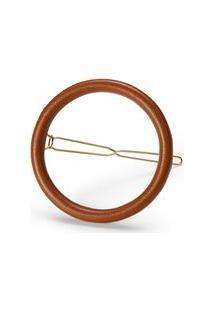 Presilha Circle Clip Caramelo
