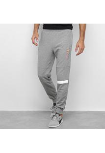Calça Moletom Puma Red Bull Logo Sweat Pants Masculina - Masculino-Cinza