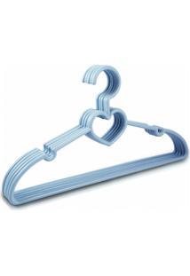 Cabide Com 5 Peças - Bebê Jacki Design Lifestyle Azul