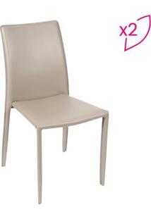 Jogo De Cadeiras De Jantar Glam- Fendi- 2Pçs- Oror Design