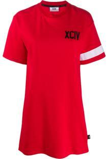 Gcds Vestido Com Logo - Vermelho
