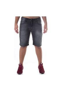 Bermuda Hd Masc Dusky Jeans Slim Preta
