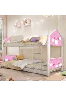 Beliche Prime Casa Juvenil Nuvem Menina Casah - Branco/Rosa - Menina - Dafiti